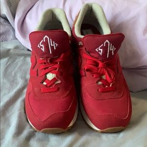 Red New balance shoes
